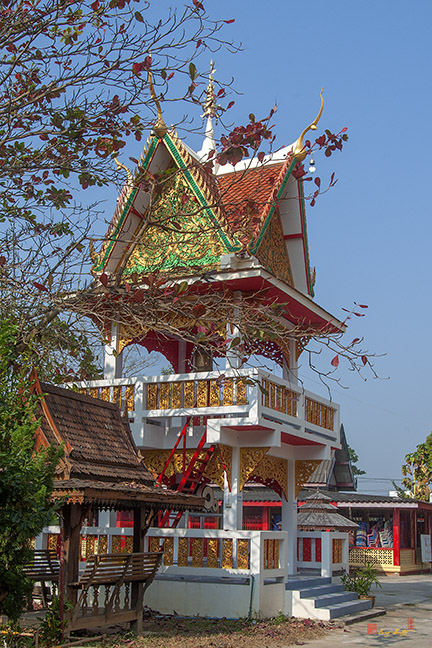 Wat Nam Phueng Bell and Drum Tower วัดน้ำผิ้ง หอระฆังและกลอง Photograph